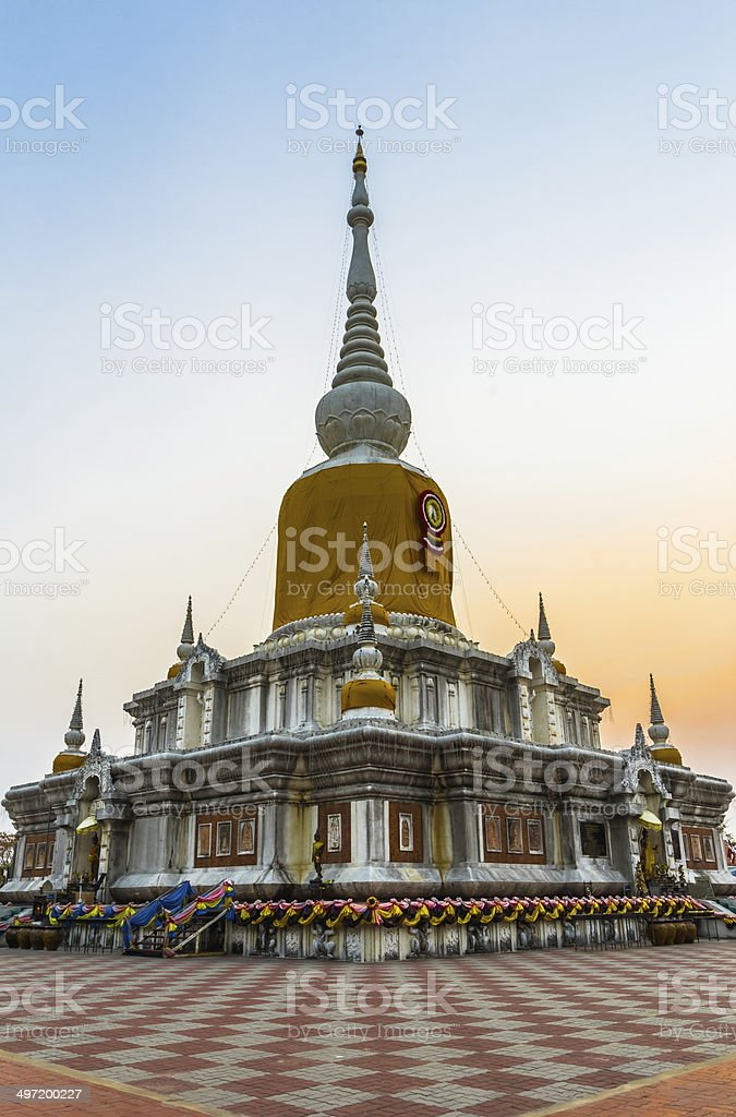 stupa in thailand royalty-free stock photo
