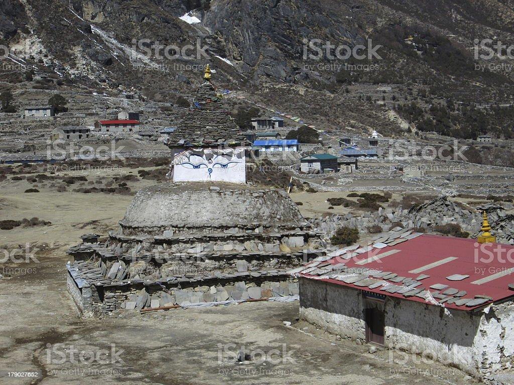 Stupa in the village Taranga royalty-free stock photo