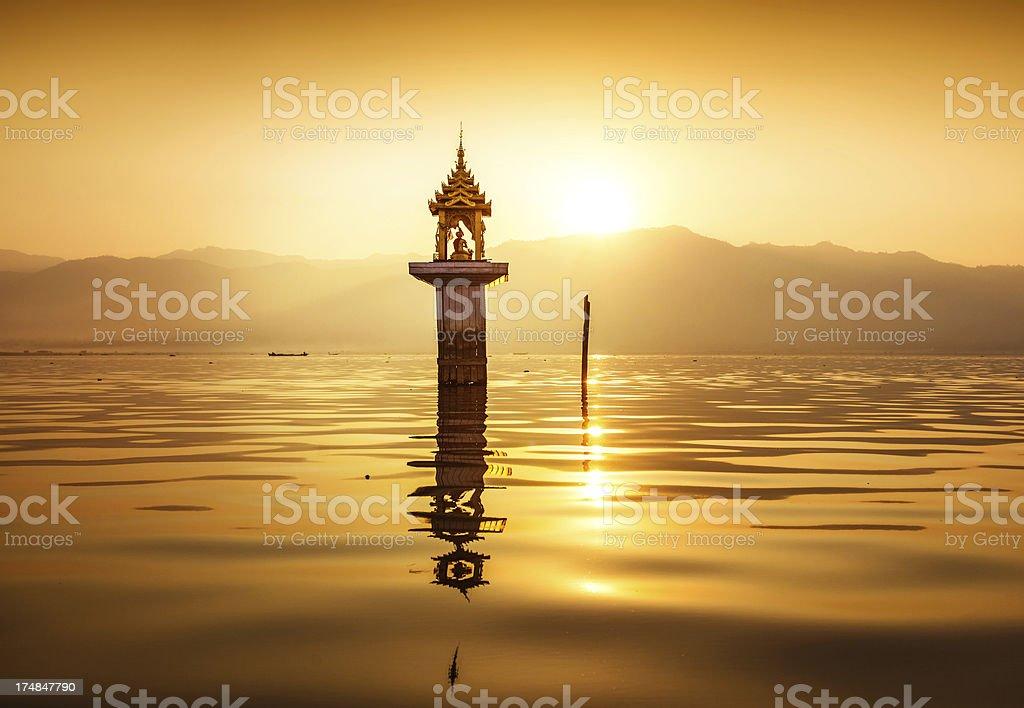 Stupa, Inle Lake, Myanmar (Burma) royalty-free stock photo