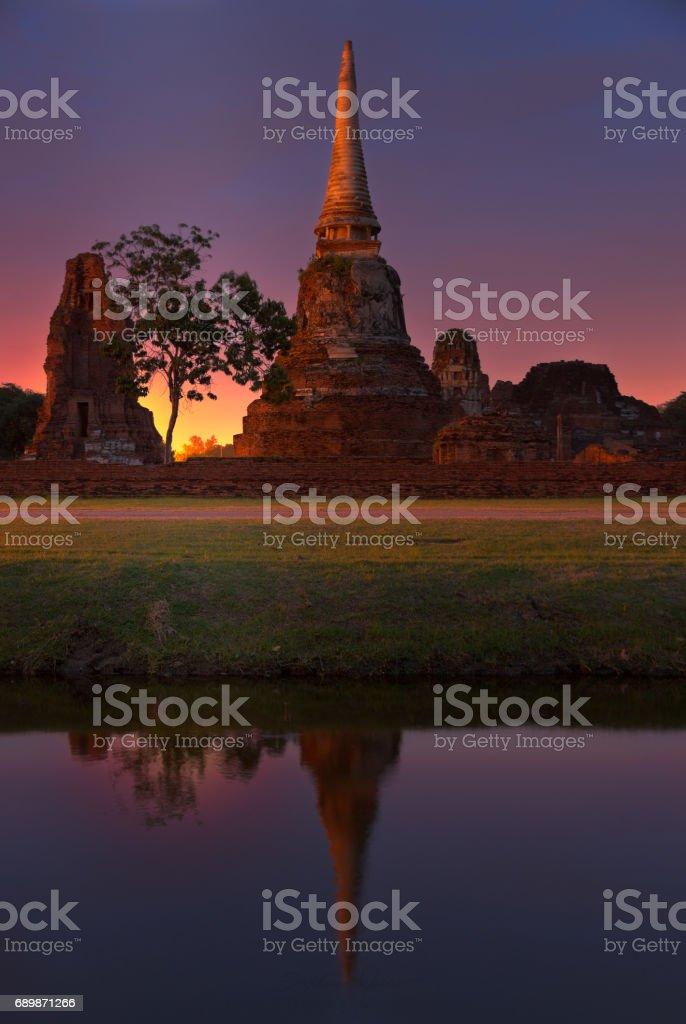 Stupa of Ayutthaya stock photo