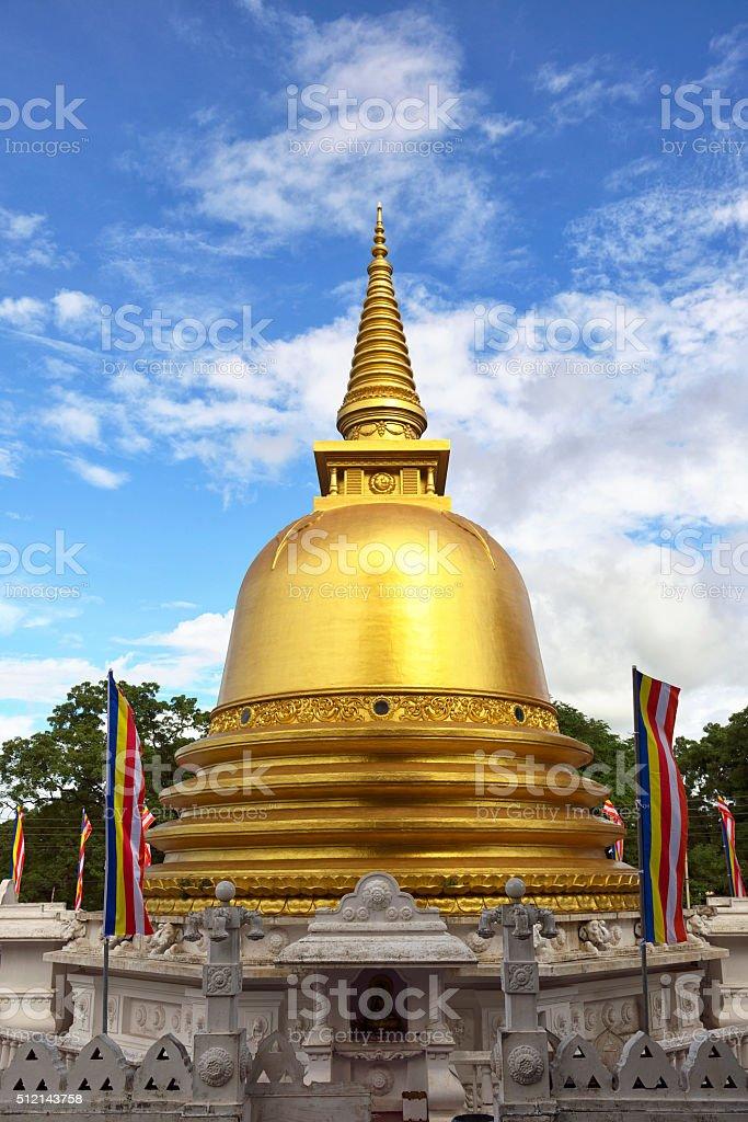 Stupa of Dambulla Temple, Sri Lanka stock photo