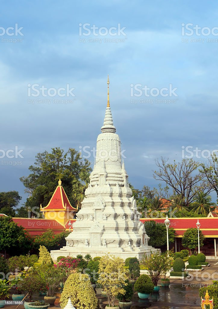 Stupa of HM King Suramarit stock photo