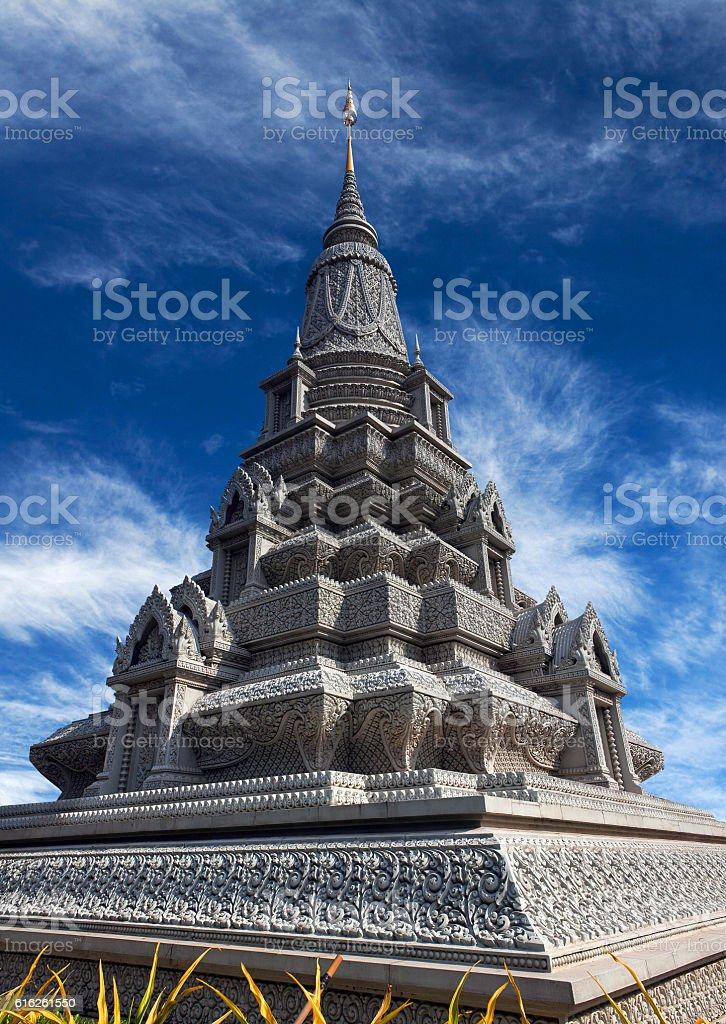 Stupa of King Norodom Suramarit in Phnom Penh, Cambodia stock photo