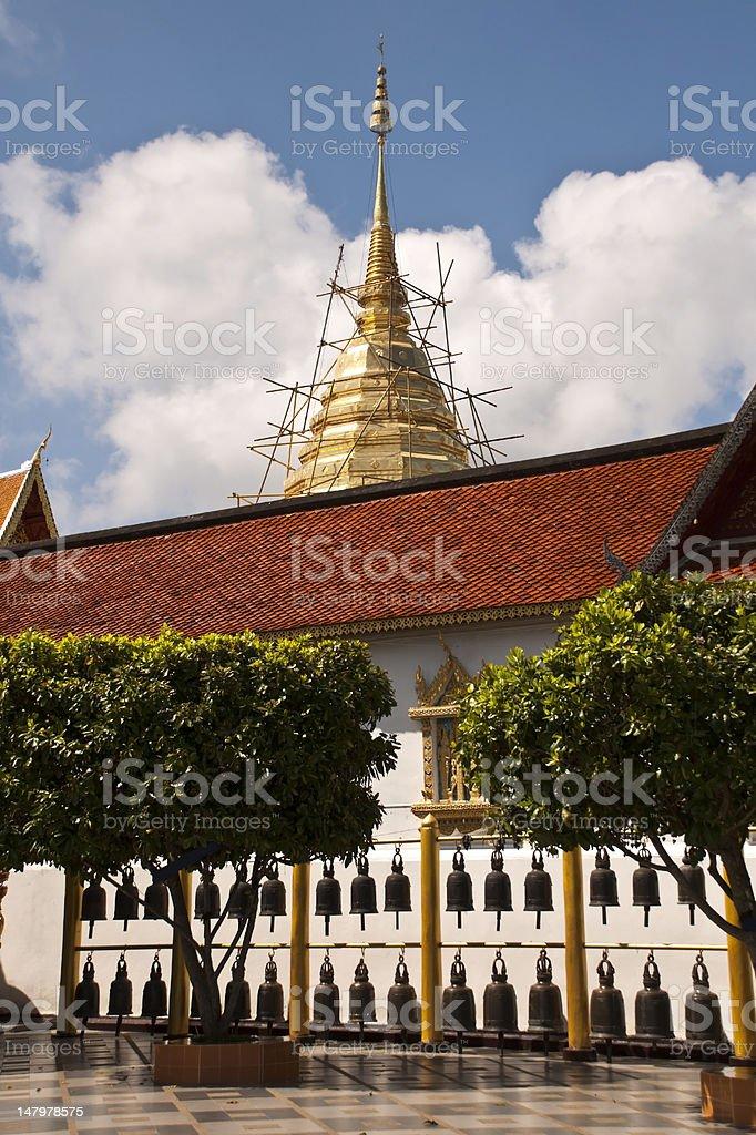 Stupa Pagoda (Golden Chedi) w Doi Sutep, Chiang Mai, Tajlandia zbiór zdjęć royalty-free