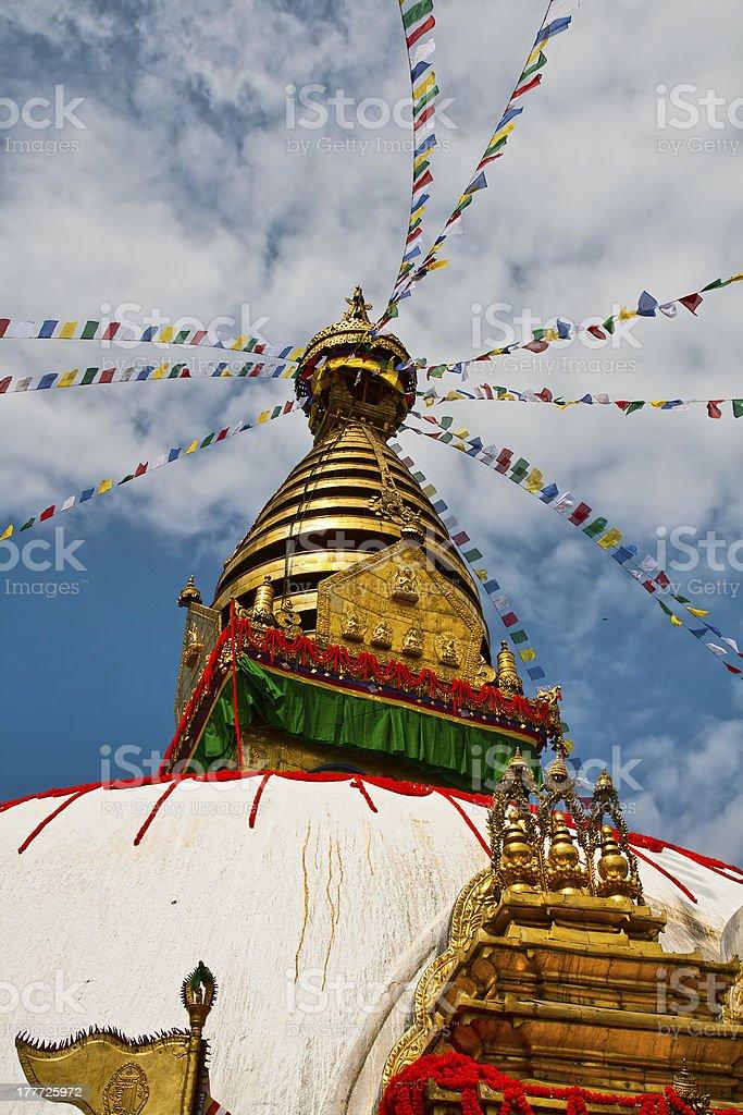 Stupa Swayambhunath in Katmandu royalty-free stock photo