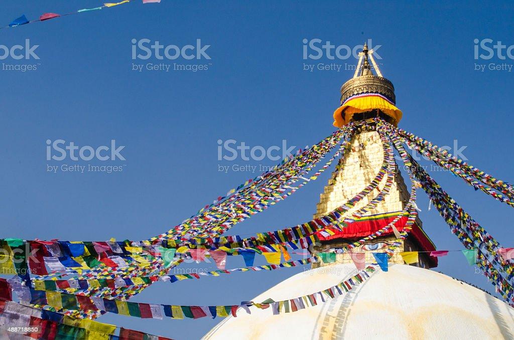 Stupa Swayambhunath in the Kathmandu, Nepal stock photo
