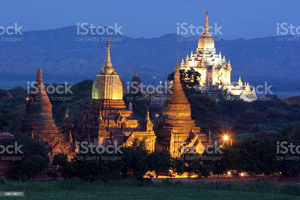 Stupas and Payas, Bagan, Myanmar royalty-free stock photo