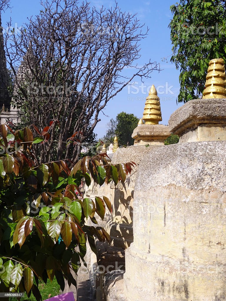 Stupas stock photo