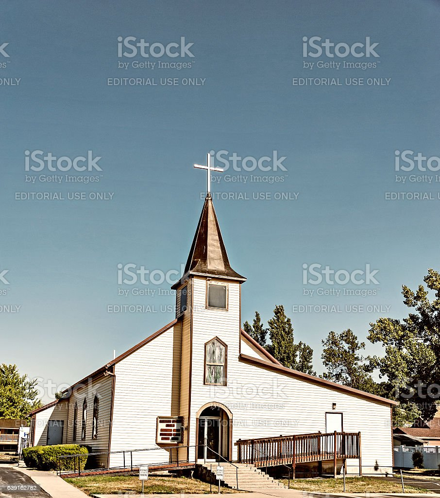 Sturgis South Dakota House of Worship stock photo