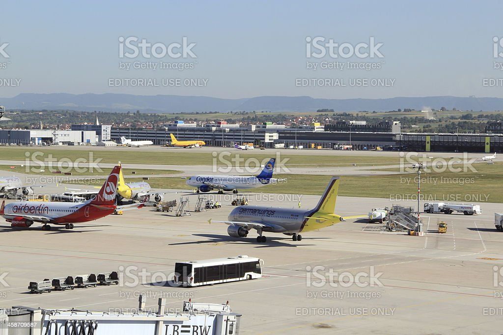Stuttgart Airport stock photo