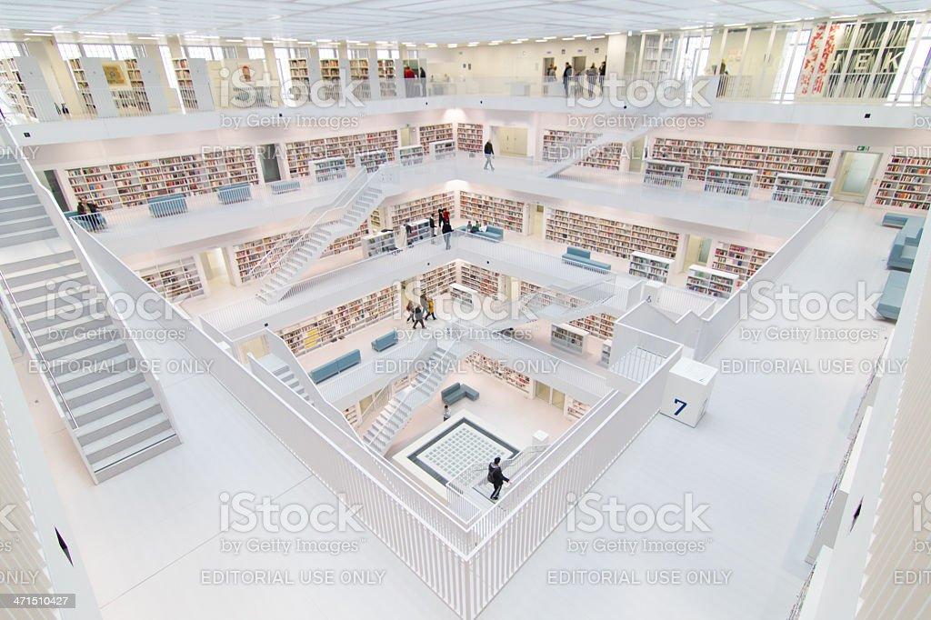 Stuttgarts library royalty-free stock photo