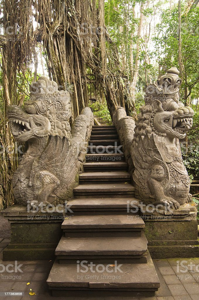 Stutue in Ubud royalty-free stock photo