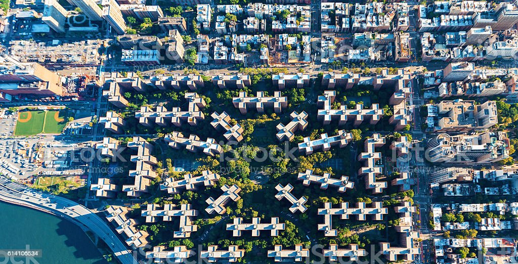 Stuyvesant Town and Peter Cooper Village in New York City stock photo