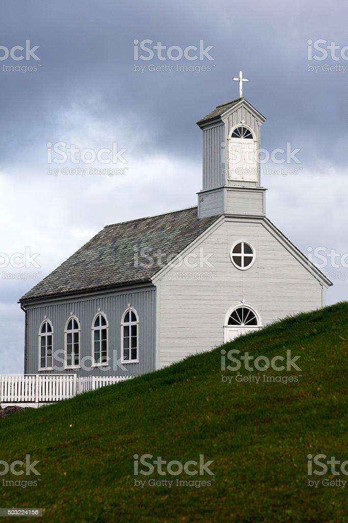 Stykkisholmskirkja, one of the many Icelandic churches. stock photo