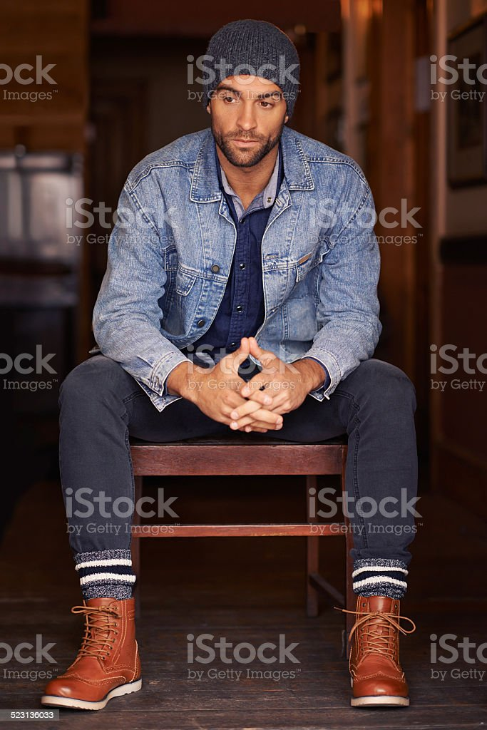 Style is a way of saying who you are stock photo