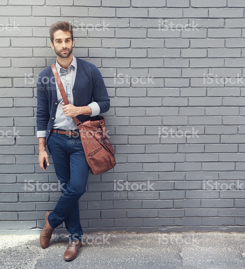Style that matches his ambition stock photo