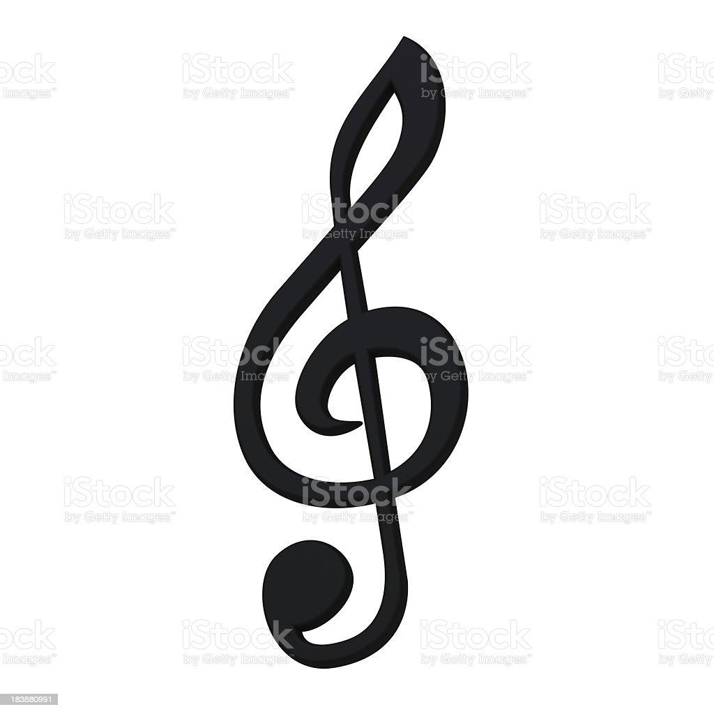 Stylish 3d music symbol royalty-free stock photo