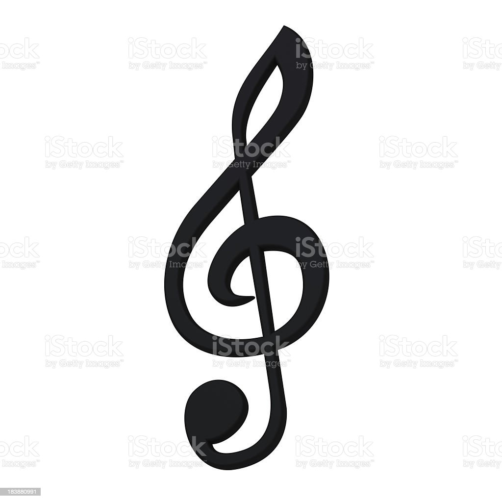 Stylish 3d music symbol stock photo