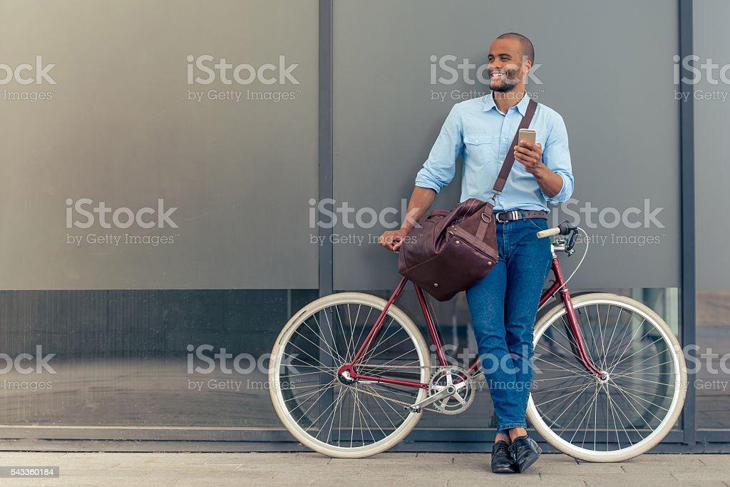 Stylish Afro American businessman stock photo