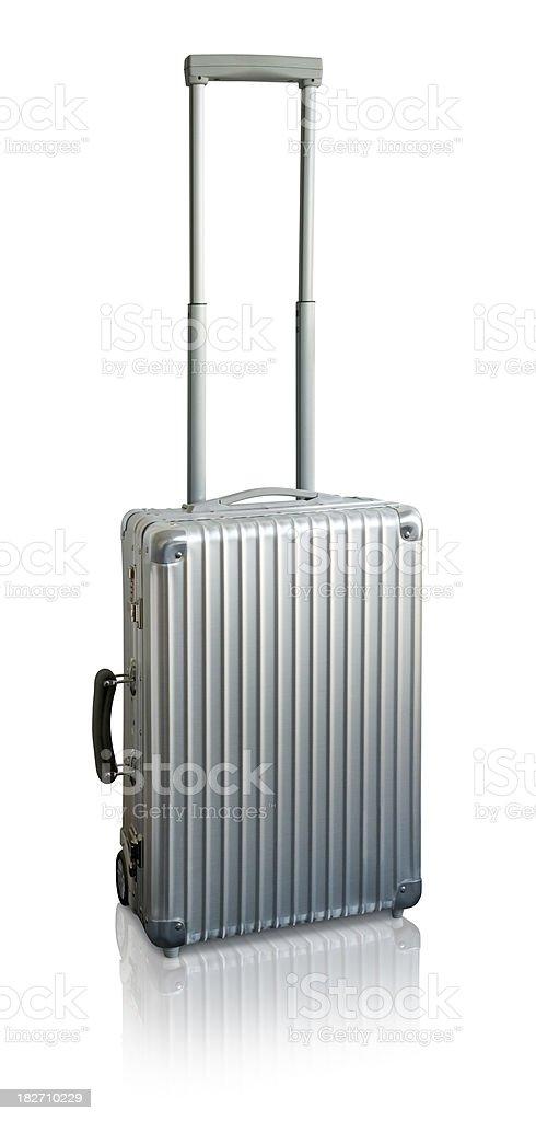 Stylish Aluminum Suitcase stock photo