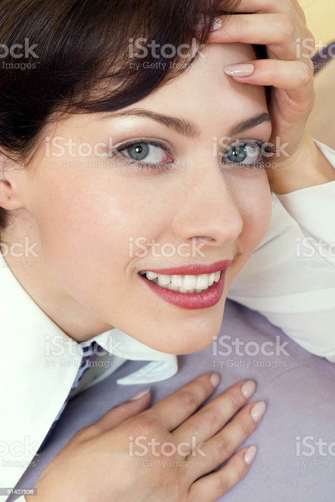 stylish and beautiful young girl royalty-free stock photo