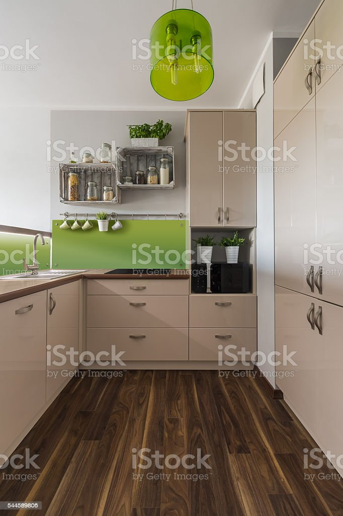 Stylish and bright kitchen stock photo