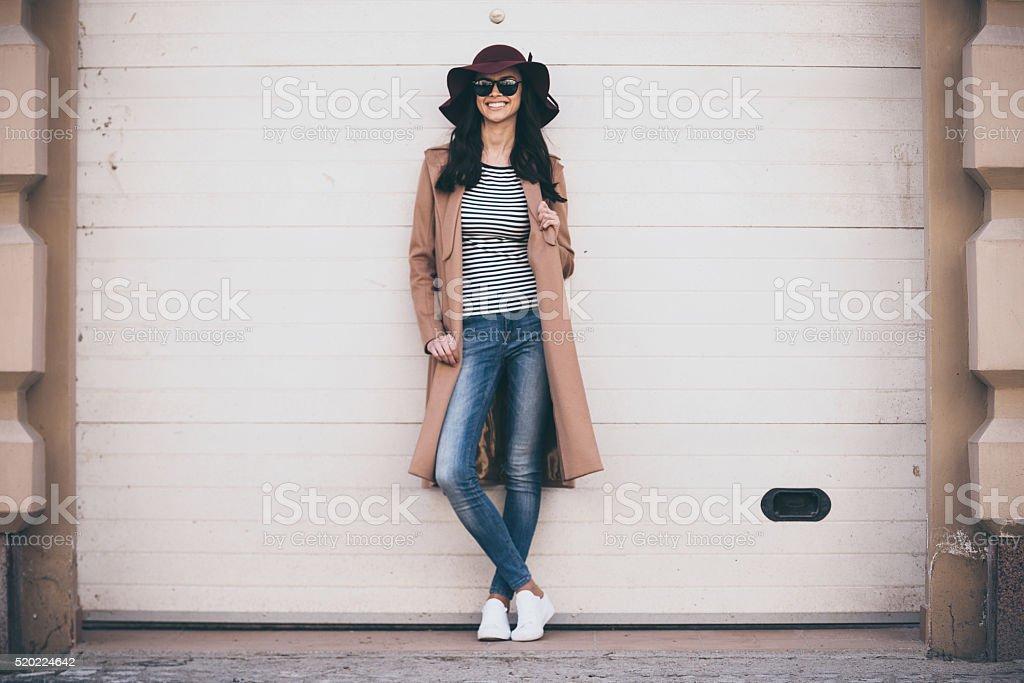 Stylish and cheerful. stock photo