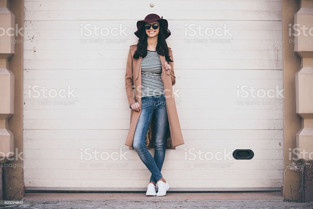 Stylish and cheerful. stock photo