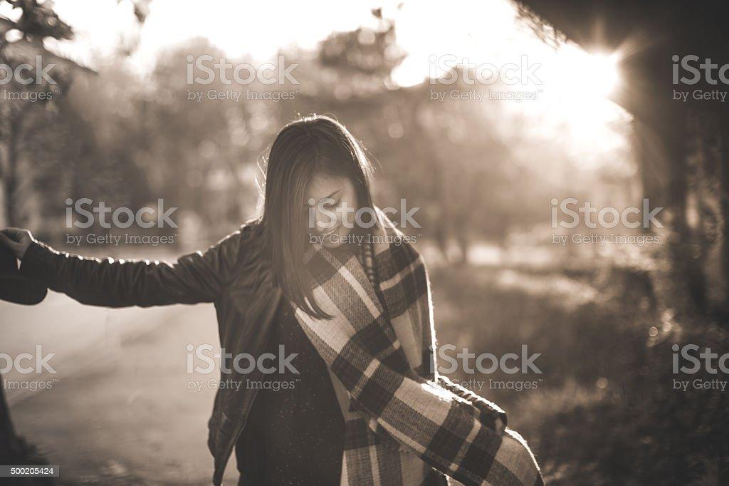 Stylish and happy stock photo