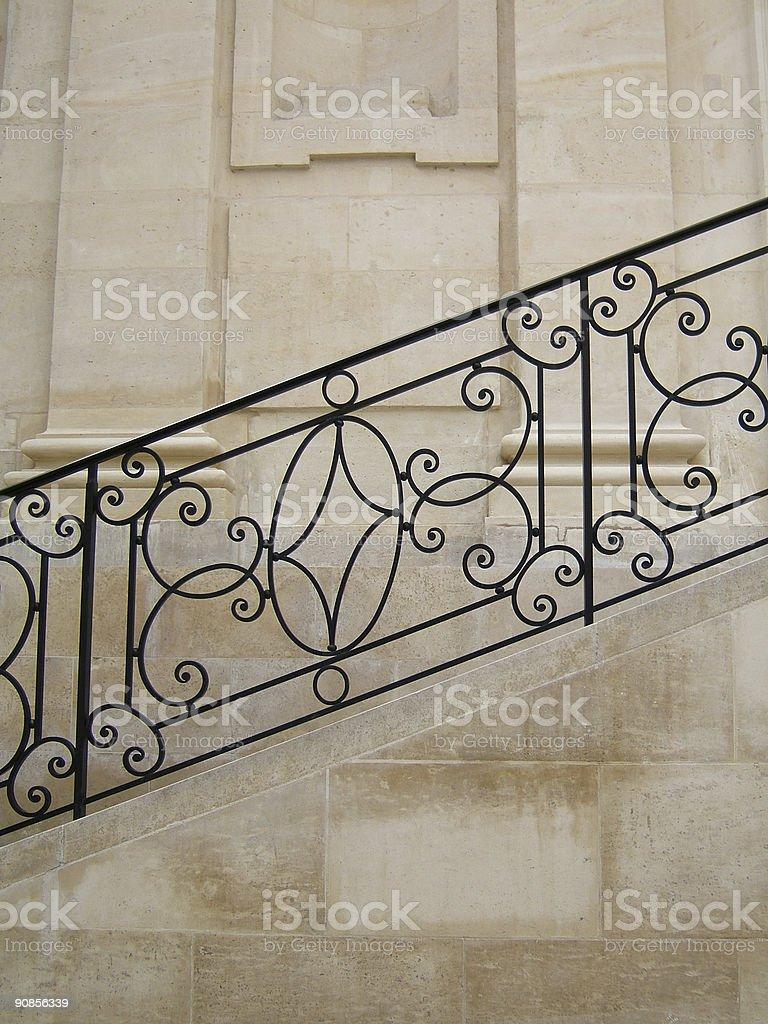 Stylish banister royalty-free stock photo
