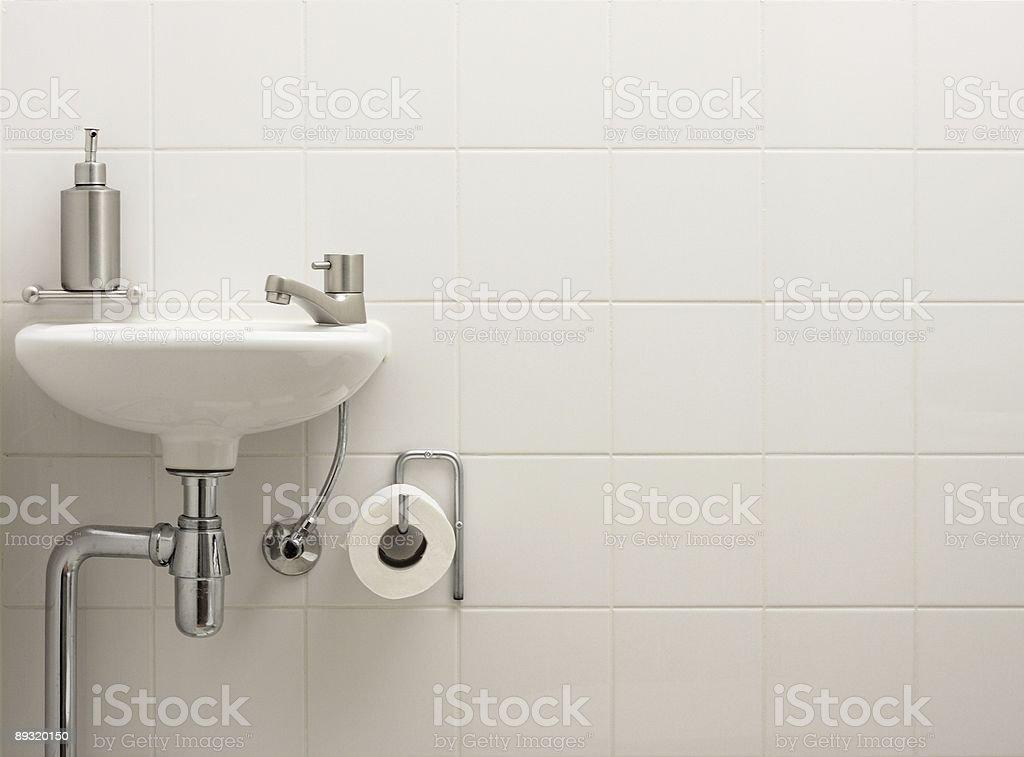 Stylish bathroom sink royalty-free stock photo