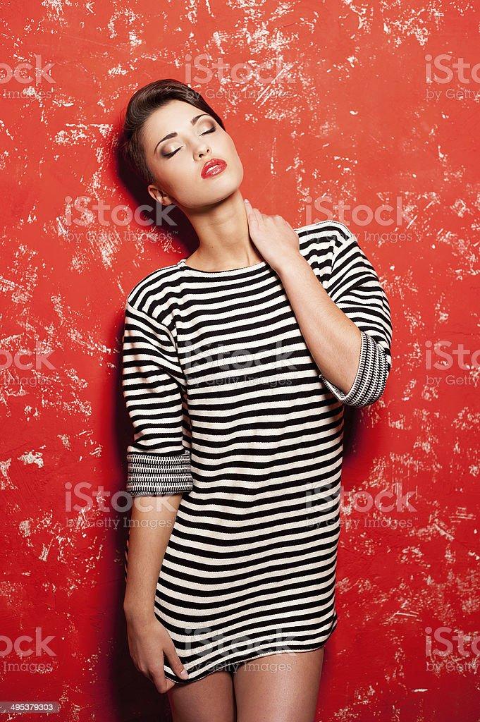 Stylish beauty. stock photo