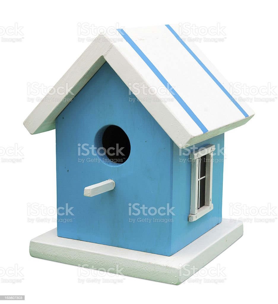 Stylish birdhouse stock photo