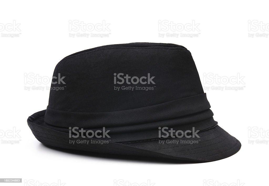 Stylish black hat stock photo