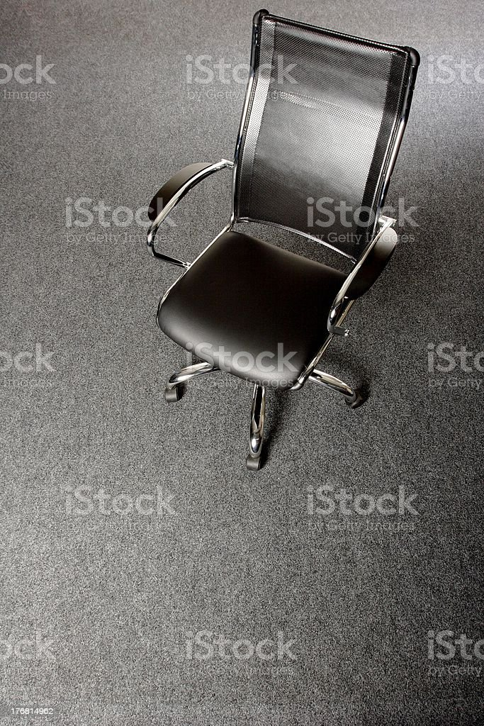 stylish black office chair royalty-free stock photo