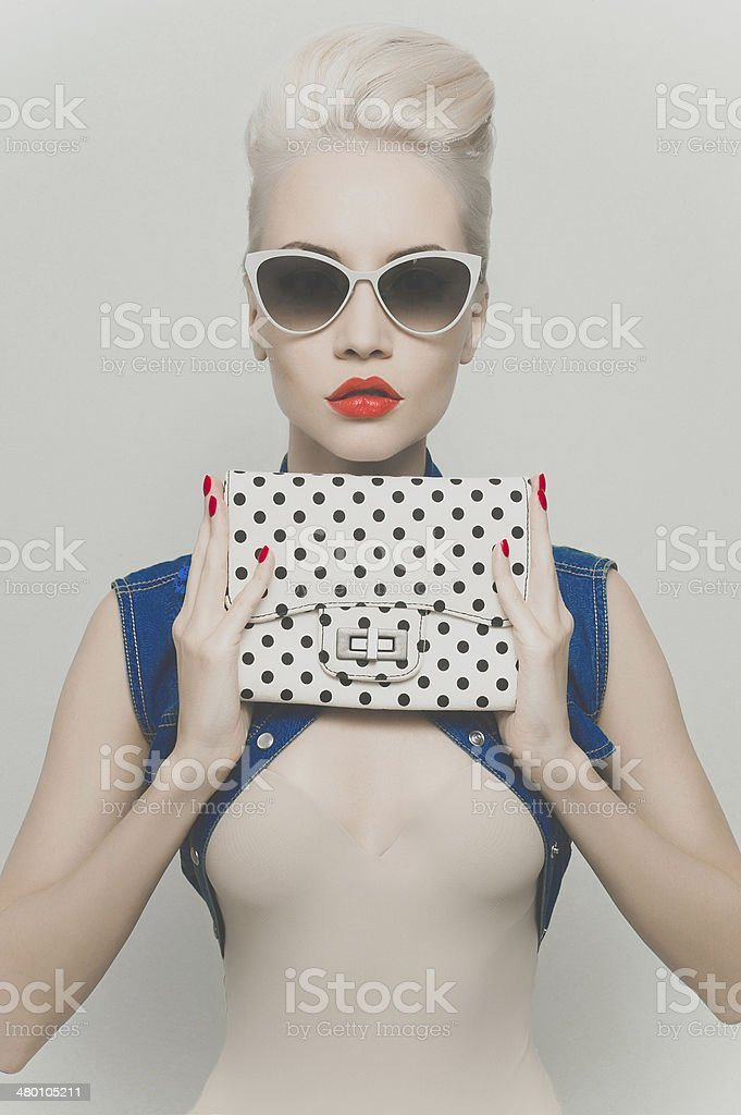 Stylish blonde stock photo