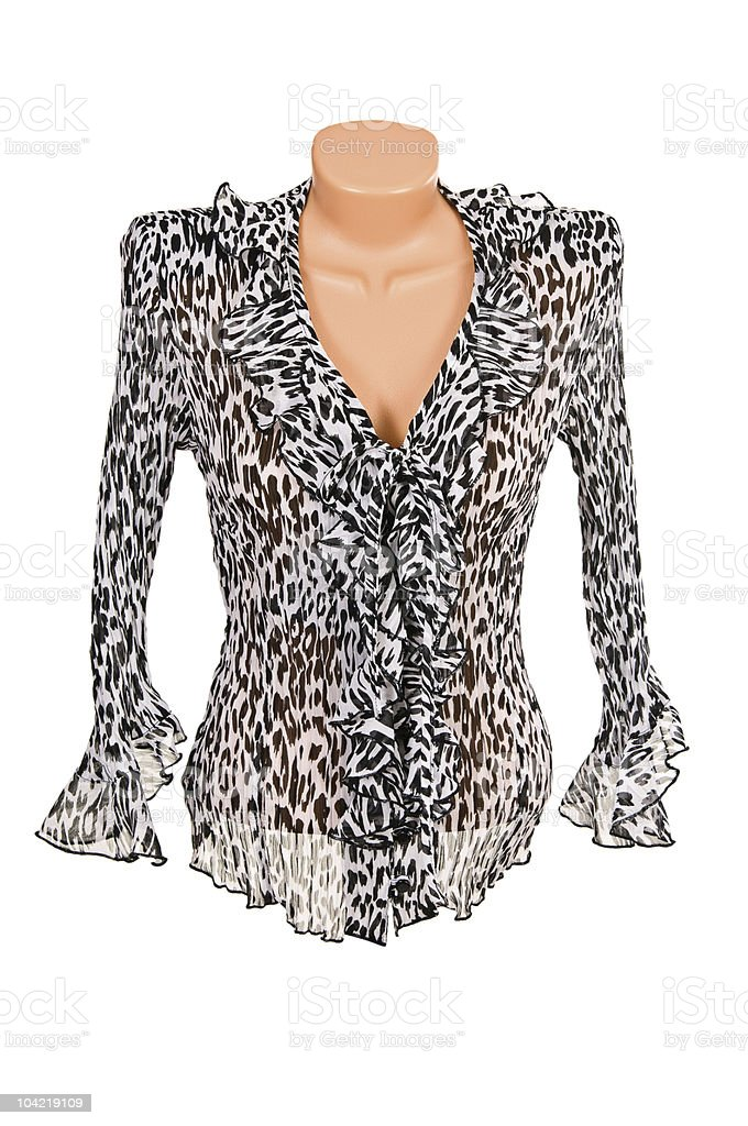 Stylish blouse on a white stock photo