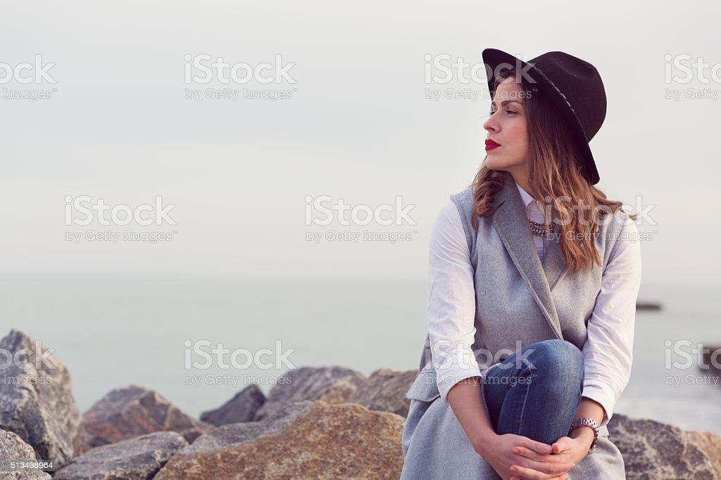 Stylish boho women stock photo