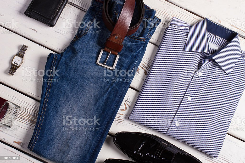 Stylish business clothing for businessman. stock photo