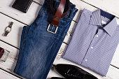 Stylish business clothing for businessman.