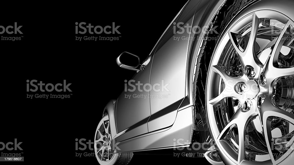 stylish car model stock photo