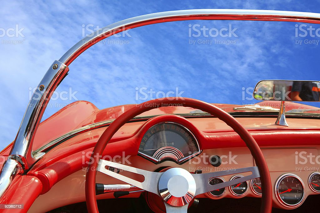 stylish car of the 50 years stock photo