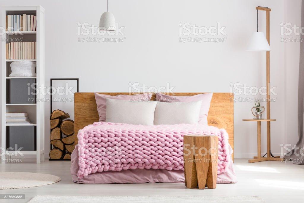 Stylish classic bedroom stock photo