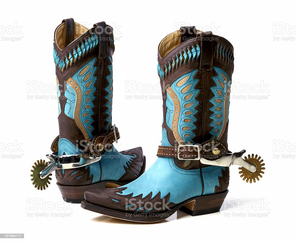 stylish cowboy boots royalty-free stock photo