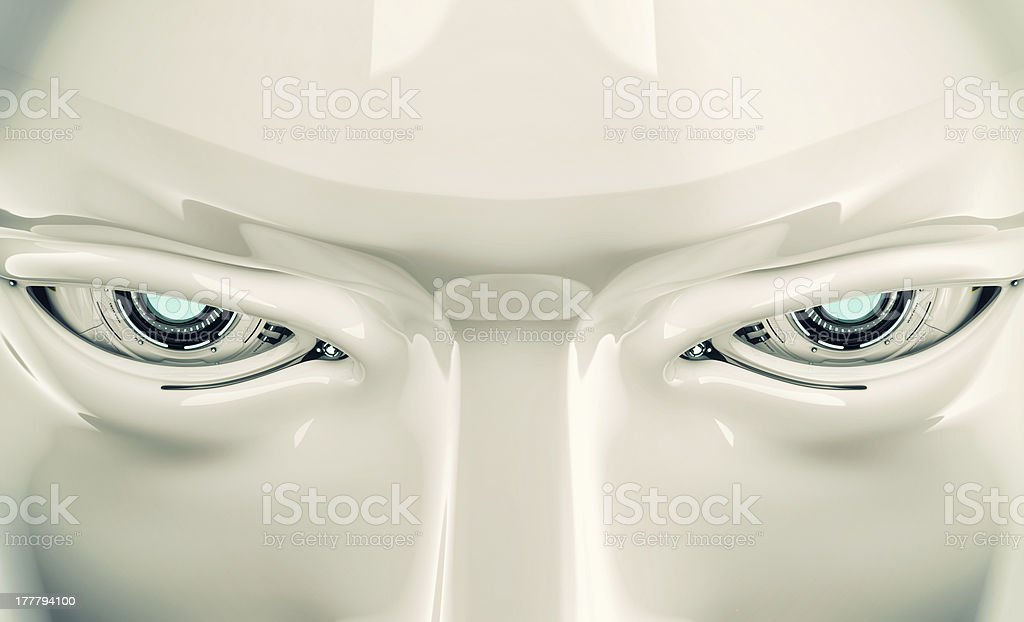 Stylish cyber face royalty-free stock photo