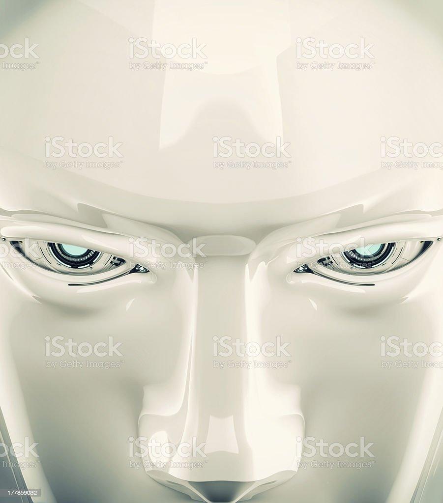 Stylish cyber face stock photo