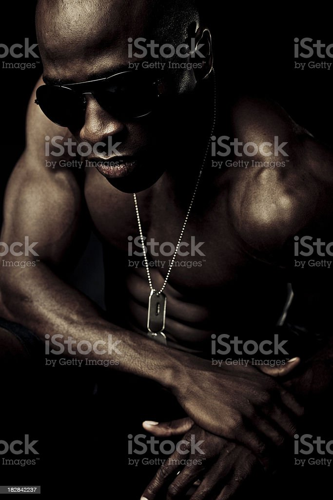 stylish dark male royalty-free stock photo