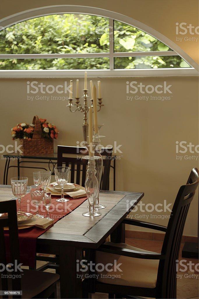 Stylish Dining Room royalty-free stock photo