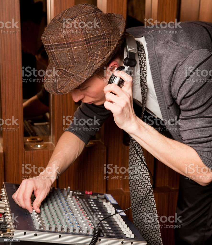 stylish DJ royalty-free stock photo