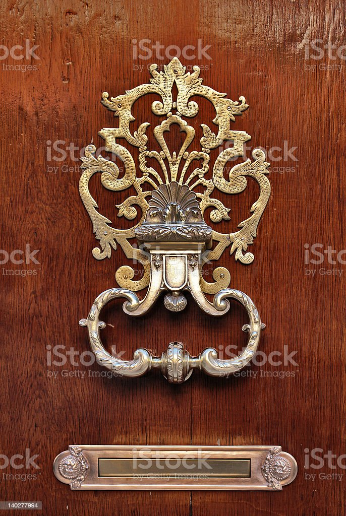 Stylish Doorknocker royalty-free stock photo